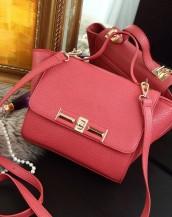 trapeze kırmızı deri kol çantası sk7472