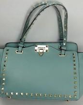 turkuaz zımbalı trapeze kol çantası sk6309