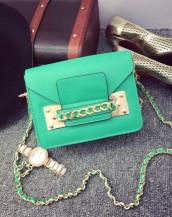 yeşil zincir detaylı küçük çanta sk7309