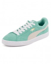 bayan puma klasik süet su yeşili spor ayakkabı sk8579