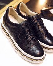 hakiki deri siyah oxford ayakkabı sk9780