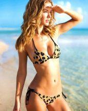 leopar desenli ipli bikini sk9678