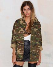ordu yeşili rengi kamuflaj askeri bayan ceketi sk9709
