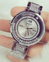 oynar kristal taşlı gümüş bayan kol saati sk9803