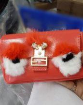 sevimli kırmızı küçük zincirli çanta sk10157