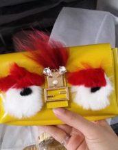 sevimli sarı küçük zincirli çanta sk10157