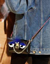 sevimli siyah küçük zincirli çanta sk10157