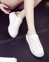 yüksek platform bayan dore beyaz spor ayakkabı sk10240
