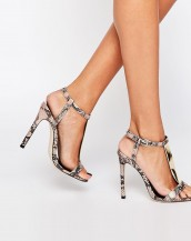 yılan derisi desenli yüksek topuklu sandalet sk9020