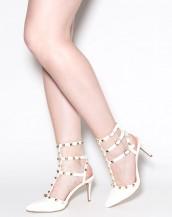 zımba detaylı beyaz tokalı stiletto sk8413