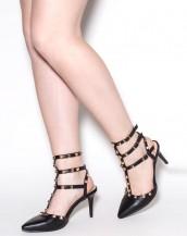 zımba detaylı siyah tokalı stiletto sk8413