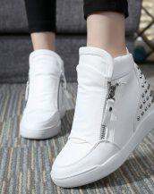 gizli topuklu zımbalı beyaz sneaker spor ayakkabı sk10492