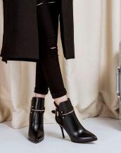 sk14338 ince topuklu siyah bootie