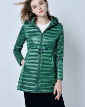 yeşil şişme puf bayan ceket sk14441