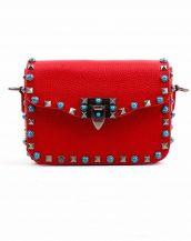 kırmızı renkli zımbalı kol çantası sk14805