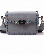 mavi renkli zımbalı kol çantası sk14805