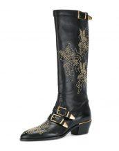 siyah chloe bayan çizme skl15759
