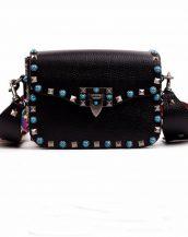 siyah renkli zımbalı kol çantası sk14805