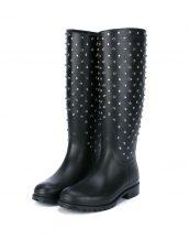 saint laurent siyah yağmur çizmesi skl17666