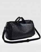siyah zımbalı yumuşak deri çanta sk16782