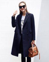 lacivet kruvaze yaka bayan palto sk18271