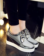 gümüş simli gizli topuklu ayakkabı sk21362