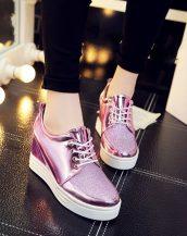lila simli gizli topuklu ayakkabı sk21362