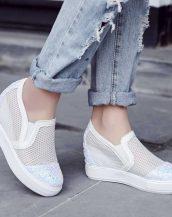beyaz payetli gizli topuk yazlık ayakkabı sk23232