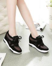 siyah file detaylı gizli topuk ayakkabı sk23419