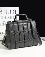 gri saplı bayan omuz çantası sk24289