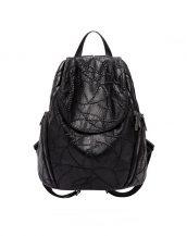 siyah dikiş detaylı sırt çantası sk24398