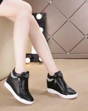 siyah taşlı gizli topuk sneaker sk25629