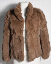 taba tavşan kürkü kısa ceket sk28345