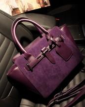 nubuk mor omuz çantası sk3696