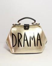 parlak deri altın rengi kol el çantası sk5247