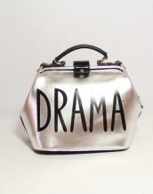 parlak deri gümüş rengi kol el çantası sk5247