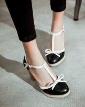 siyah yazlık topuklu ayakkabı sk4779