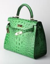 timsah derisi çanta yeşil sk4080