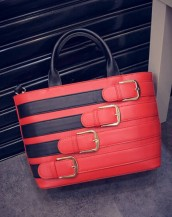 toka detaylı kırmızı deri kol çantası sk5159