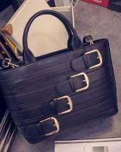 toka detaylı siyah renk deri kol çantası sk5159