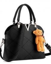 v deri siyah omuz çantası sk4408