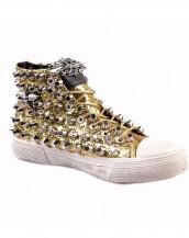 zımbalı altın rengi sneaker sk4348