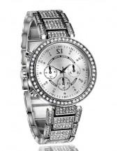 2016 moda swarovski taşlı gümüş kol saati sk7874