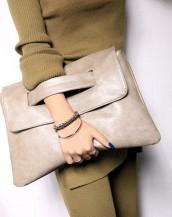 bej çıtçıtlı deri el omuz çantası sk6531