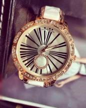 beyaz altın taş süslemeli şık kol saati sk8015