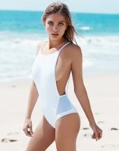 beyaz sırtı açık seksi bikini mayokini sk7570