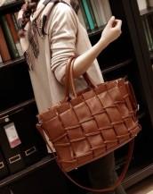 gerçek deri kahverengi tasarım kol çantası sk7936