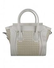 gri zımbalı deri kol çantası sk6766