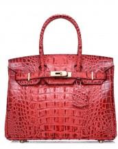 kırmızı timsah desenli tote çanta sk7125
