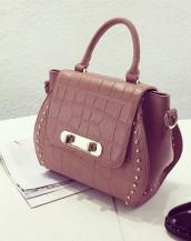 kahverengi kabartma deri kol çantası sk7229